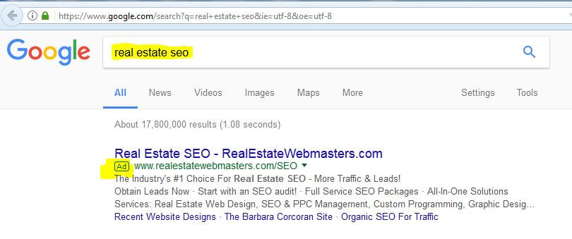 example of Google PPC Advertising